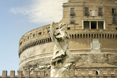 Castle of the Holy Angel in Rome Stock Photography