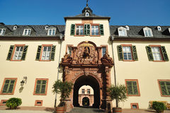 Castle Homburg architecture. Patio of castle Royalty Free Stock Photos