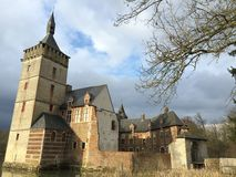 Castle of Horst, Belgium. Historic, medieval, moated castle of Horst, Belgium Stock Photography