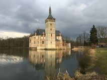 Castle of Horst, Belgium. Historic, medieval, moated castle of Horst, Belgium Royalty Free Stock Images