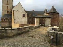 Castle of Horst, Belgium. Historic, medieval, moated castle of Horst, Belgium Royalty Free Stock Images