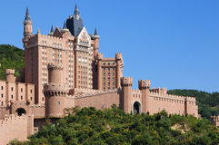 Castle hotel Dalian City Stock Image