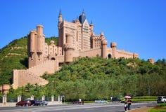 Castle hotel Dalian City Royalty Free Stock Image
