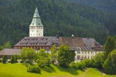 Castle and hotel Elmau in Bavaria Stock Image