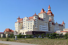 Castle hotel in Sochi Park. In Russian Royalty Free Stock Photo