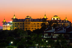 Castle hotel in turkey Royalty Free Stock Photography