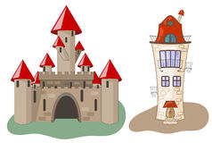 Castle and House Stock Image