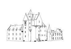 Castle House Royalty Free Stock Photography