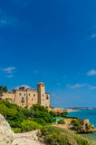 Castle House. Tamarit medieval Castle (Tarragona, Spain), build between 11th and 12th centuries Stock Photo