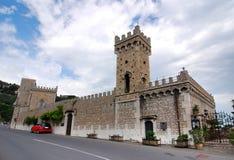 Castle house in Taormina stock image