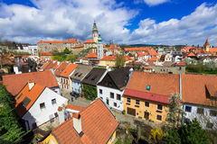 Castle and houses in Cesky Krumlov, Czech republic Royalty Free Stock Photography
