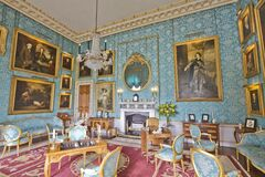 Castle Howard Turquoise Drawing Room Stock Image
