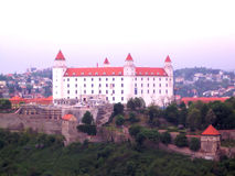 Castle hrad in bratislava Royalty Free Stock Photography