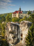 Castle Hruba Skala Bohemia Fairytale Stock Photography