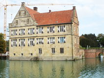 Castle Huelshoff (κύριο κάστρο) Στοκ Εικόνες