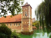Castle Huelshoff (bailey). Roxel, Germany 2014 Royalty Free Stock Image