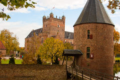 Castle huis ten berg. At the Netherlands is one of the greatest castle of the country Stock Images
