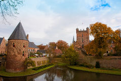 Castle huis ten berg Royalty Free Stock Photography