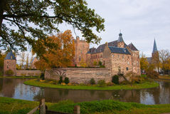 Castle huis ten berg. At the Netherlands is one of the greatest castle of the country Royalty Free Stock Photos