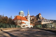 Castle in Hungary. Westerly Cathedral. The biggest church in Hungary.View of an Esztergom Basilica, Hungary Westerly Cathedral stock image