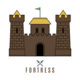 Castle icon. Flat style. For you design Royalty Free Stock Photos