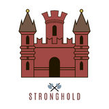 Castle icon. Flat style. For you design Stock Images