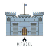 Castle icon. Flat style. For you design Stock Image