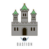 Castle icon. Flat style. For you design Royalty Free Stock Image