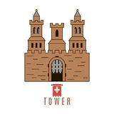 Castle icon. Flat style. For you design Stock Photo