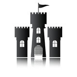 Castle icon isolated,  Stock Photo