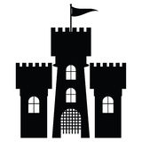 Castle icon isolated,  Stock Images