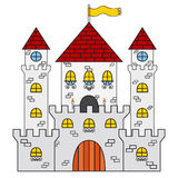 Castle icon. Made in cartoon flat style. Medieval concept. Royalty Free Stock Images