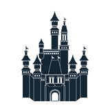Castle icon. Palace design. Flat illustration, vector Royalty Free Stock Images
