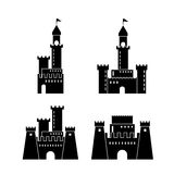 Castle icon. Palace design. Flat illustration, vector Royalty Free Stock Photo