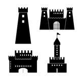 Castle icon. Palace design. Flat illustration, vector Royalty Free Stock Photo