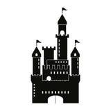 Castle icon. Palace design. Flat illustration, vector Stock Photo