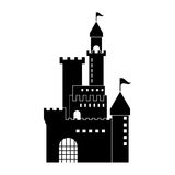 Castle icon. Palace design. Flat illustration, vector Stock Images