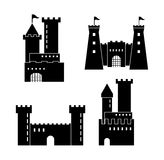 Castle icon. Palace design. Flat illustration, vector Royalty Free Stock Image