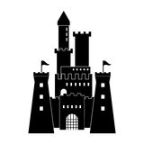 Castle icon. Palace design. Flat illustration, vector Royalty Free Stock Photos