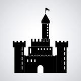 Castle icon. Palace design. Flat illustration, vector Stock Image