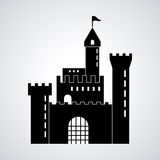 Castle icon. Palace design. Flat illustration, vector Royalty Free Stock Photography