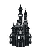 Castle icon. Palace design. Flat illustration, vector Stock Photography