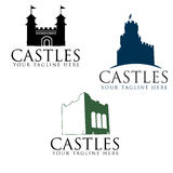 Castle Icon Set royalty free stock image