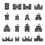 Castle icon set Royalty Free Stock Image