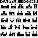 Castle icon set. Royalty Free Stock Image
