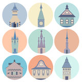 Castle Icons Stock Photography
