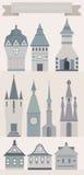 Castle Icons Stock Photo