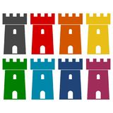 Castle icons set. Vector icon Royalty Free Stock Photo