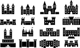 Castle icons Stock Images
