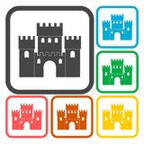 Castle icons set. Vector icon Royalty Free Stock Image